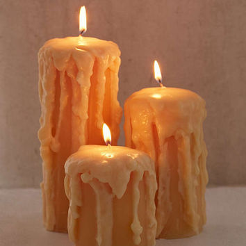 Melted Pillar Candle | Urban Outfitters