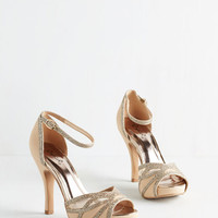Luxe Glitz All for You Heel in Beige
