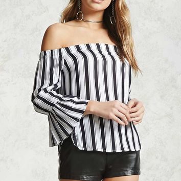 Contemporary Striped Top - Contemporary - 2000323112 - Forever 21 Canada English