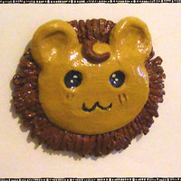 Cute Lion Head Polymer Magnet