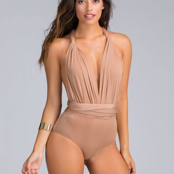 Top Down Convertible Halter Bodysuit