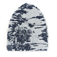 Blue Burnout Slouch Beanie from Little Urban Gem