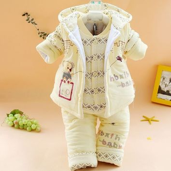 Winter Baby Girl Accessorie Baby Girls Clothing Set Baby's 3pcs Sets