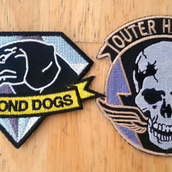 Metal Gear Solid V Ground Zeroes & The Phantom Pain Iron-on Patches Set  As Seen in Metal Gear Solid V The Phantom Pain - Big Boss Emblems