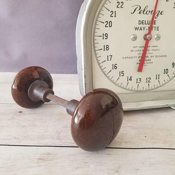 Antique Brown Porcelain Doorknobs/ Brown Ceramic Doorknobs/ Architectural Salvage Door Knobs/ Brown Glass Door Knobs/ Victorian Doorknobs