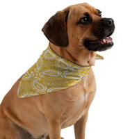 Heather Dutton Plush Paisley Goldenrod Pet Bandana