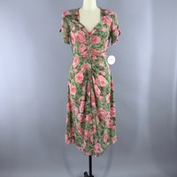 Vintage 1990s Rose Floral Print Dress / Madison Wells