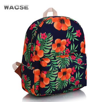 Fashion Canvas Casual Stylish Travel Vintage Backpack = 4887760708