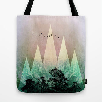 TREES under MAGIC MOUNTAINS IV Tote Bag by Pia Schneider [atelier COLOUR-VISION]