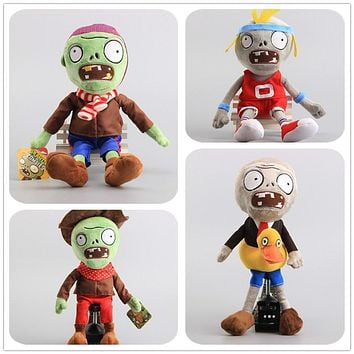 "Cartoon 8 Styles Plants VS Zombies Gargantuar Zombie PVZ Soft Dolls Zombies Stuffed Toys 12"" 30 CM Children Gift"