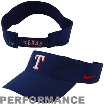 Nike Texas Rangers Dri-FIT Stadium Adjustable Performance Visor - Royal Blue