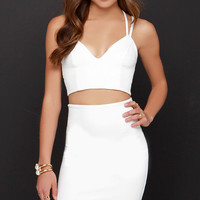 Class and Sass Ivory Two-Piece Dress