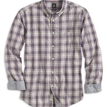 Dockers The Laundered Shirt, Button Down Collar - Multi Plaid - Men's