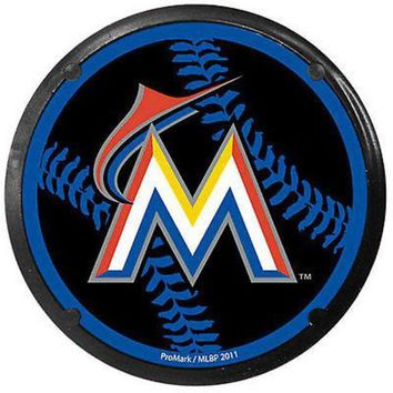 ONETOW Miami Marlins Car Coaster Air Freshener Auto Car Truck Baseball
