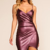 Makin' Me Melt Dress - Burgundy