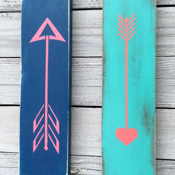 Tribal Decor - Wooden Arrows - Arrow Wall Decor - Mint Arrows - Rustic Decor - Bohemian Decor - Rustic Arrows