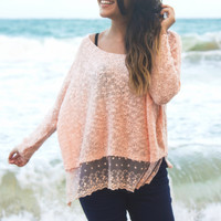 Brenda Lace Trim Sweater