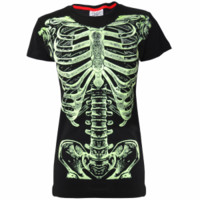 - Darkside Clothing Ribs Glow In The Dark Women's T-Shirt - Attitude Clothing