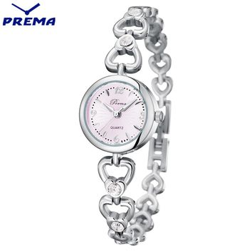 2017 PREMA Womens Watches Top Brand Quartz Watch Women Dress 5 colors Small Dial Bracelet Watch Casual Women's Watch Wristwatch