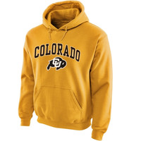 Colorado Buffaloes Midsize Arch Pullover Hoodie - Gold
