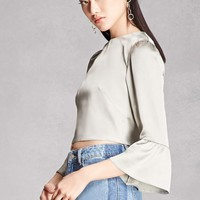 Satin Tie-Back Crop Top