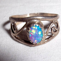 Moonstone/Opal Gemstone Ring