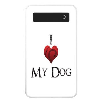 I Love My Dog Power Bank