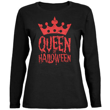 Halloween Queen Of Halloween Black Womens Long Sleeve T-Shirt