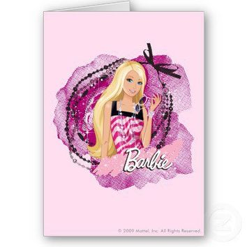 Barbie jewels greeting card from Zazzle.com