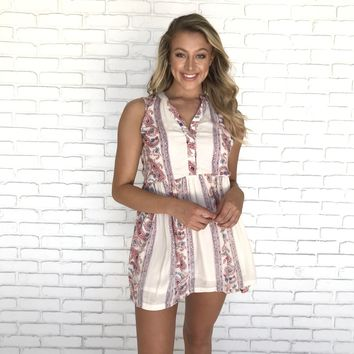 Peruvian Paisley Print Dress