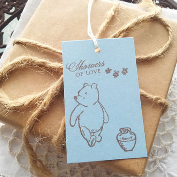 Winnie the Pooh Baby Shower Tags Set of 10