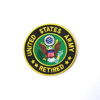 United States Army RETIRED Badge/ Iron on patch