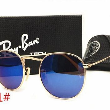 Ray Ban Fashion Women Men Personality Summer Sun Shades Eyeglasses Glasses Sunglasses Dark Blue I-MYJ-YF