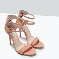 Double strap heeled sandals