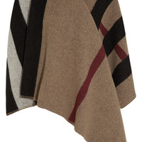 Burberry Prorsum - Checked wool and cashmere-blend cape