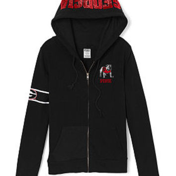 University of Georgia Perfect Full-Zip Hoodie - PINK - Victoria's Secret