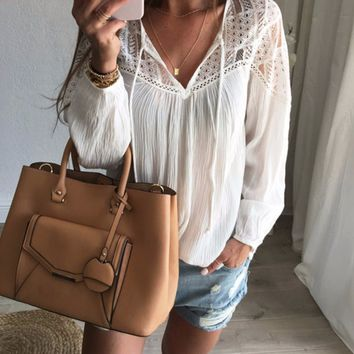 Autumn Crochet Blouse