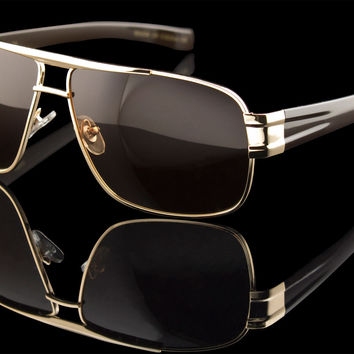 "TAC Polarized Mens Luxury Rectangle Sunglasses ""McQueen"""