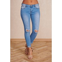 Majestic Morning Mid-Rise Jeans (Light Wash)