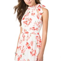 Chinoiserie Floral Halter Dress