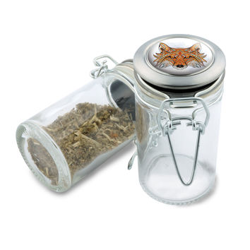 Glass  Jar - Native Fox - 75ml Herb and Spice Storage Container
