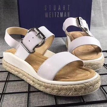 Stuart Weitzman Women Fashion Simple Casual  Sandals Shoes