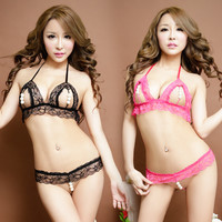 Hot Deal On Sale Cute Sexy Lace Bikini Pearls Pants Exotic Lingerie [4933174532]