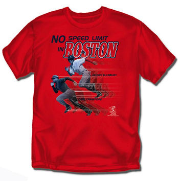 Boston Red Sox MLB No Speed Limit in Boston Mens Tee (Red)