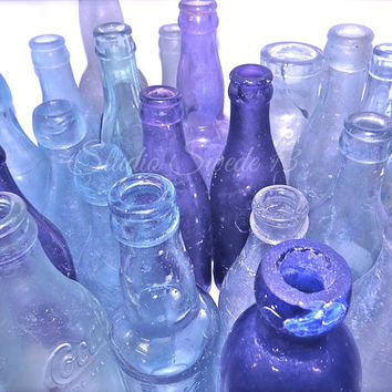 Still Life Photography, Old Bottle Photography, Kitchen Art, Rustic Art, Lavender Bottles, Purple Art, Shabby Chic Art, Flea Market Art