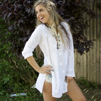 Oyster Cotton Tunic