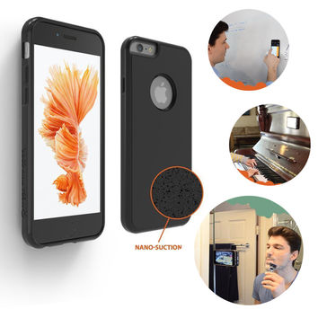 New TPU+PC Anti-gravity Adsorption Suction Phone Case For iPhone 6 6S 6 6S Plus wall magic sticker protective sleeve Retail