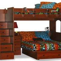 Blanchard Full Over Full Stairway Loft Bed