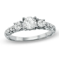 1 CT. T.W. Diamond Solitaire Engagement Ring in 10K White Gold