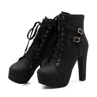 MOON WALK High Quality Fashion Autumn  Ankle Boots